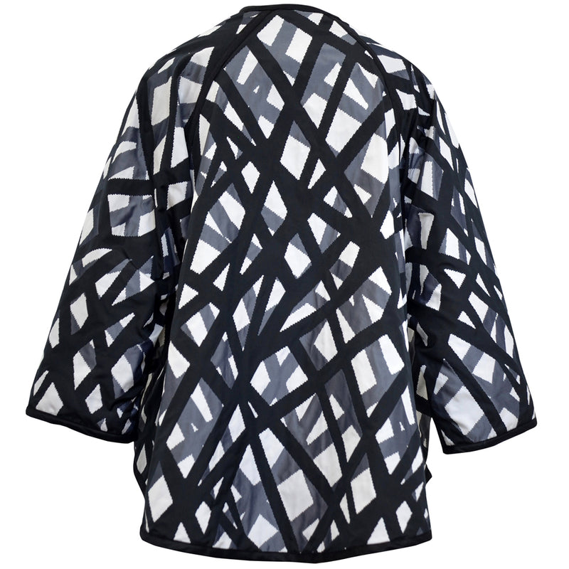 Japanese Taffeta Reversible Jacket Zig Zag Back