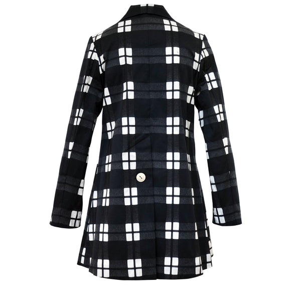Tiffany Treloar Cotton Car Coat Black Check Back