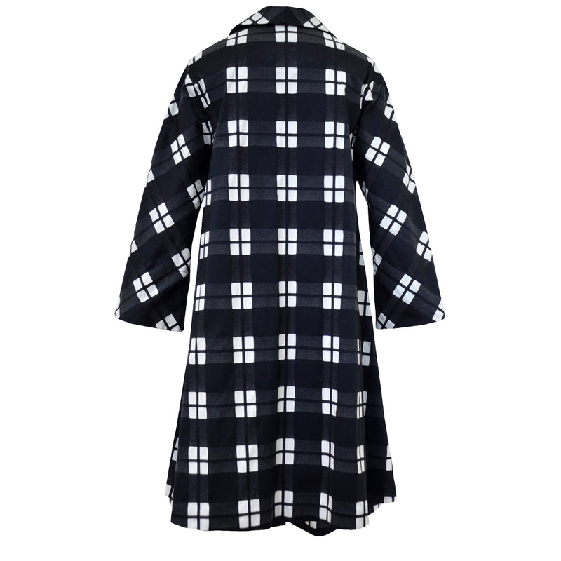 Tiffany Treloar Cotton Coat Black Check Back