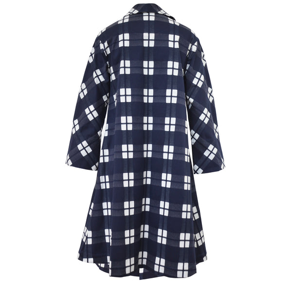 Tiffany Treloar Cotton Coat Navy Check Back