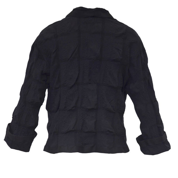 Tiffany Treloar Cotton Seersucker Jacket Black Back