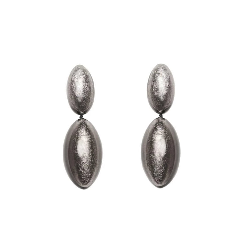 monies India Earclips Silver
