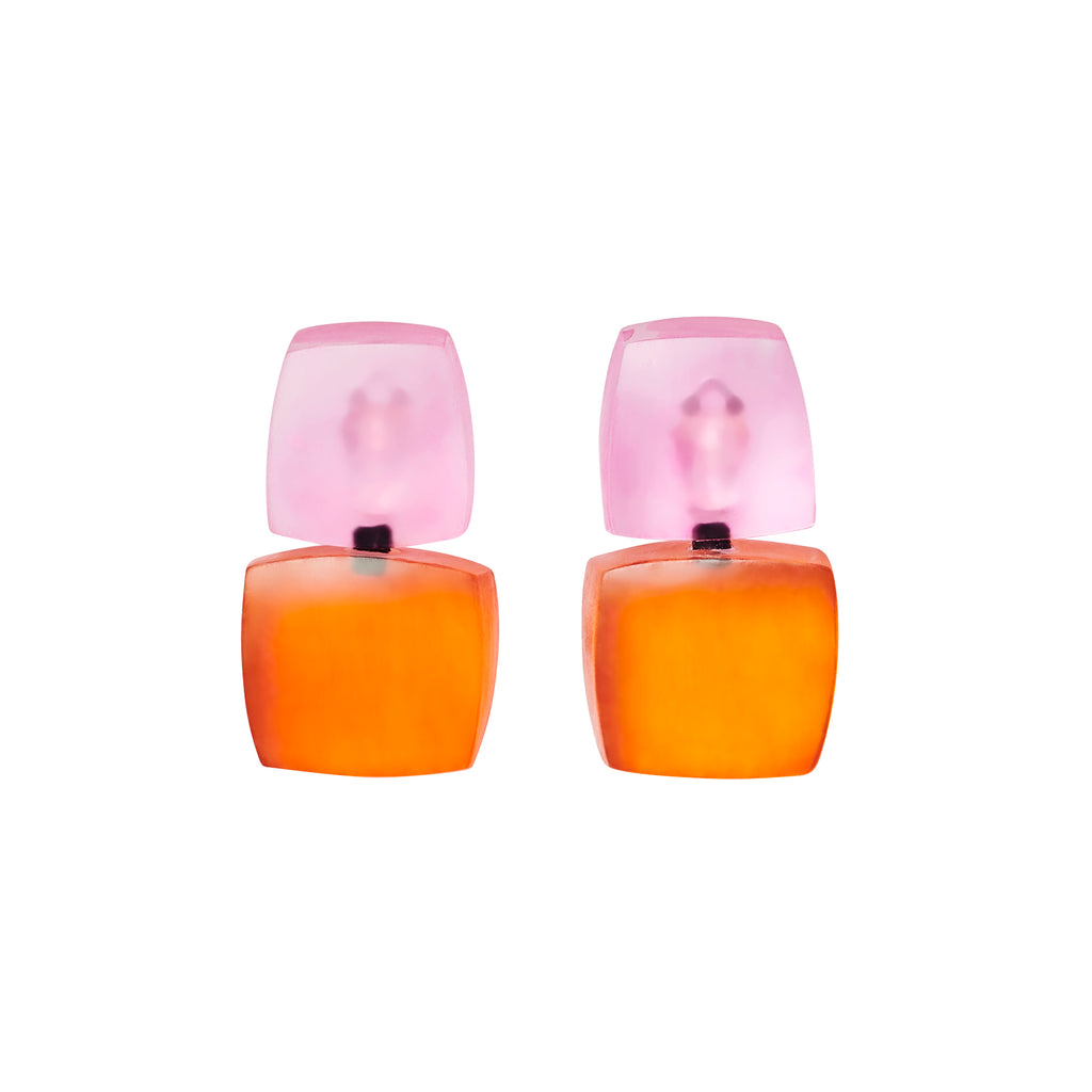 IZZY EARRINGS PINK/ORANGE