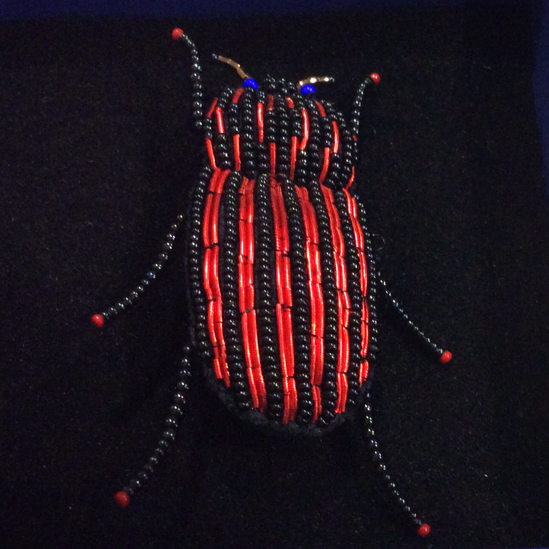 Red Rider Beetle Brooch