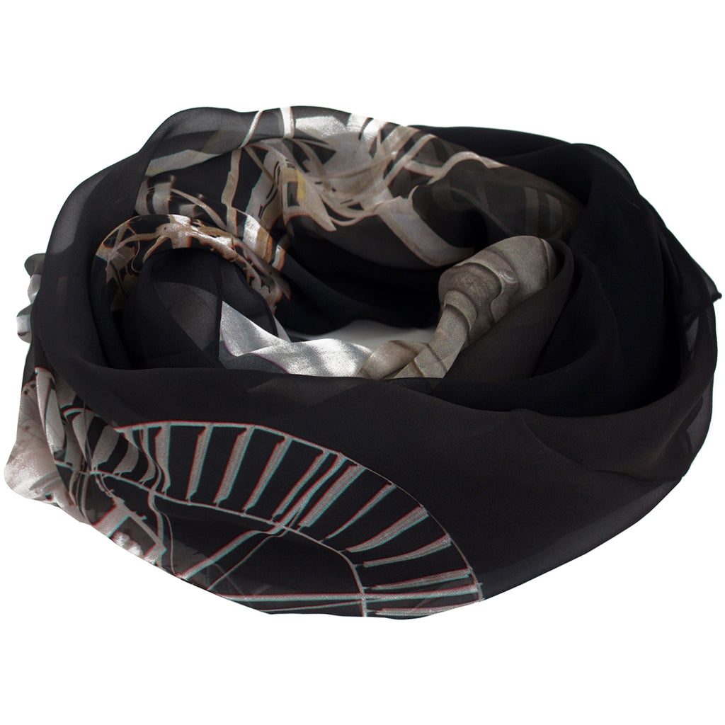 Tiffany Treloar, Long Print Silk Georgette Scarf Windmill - Tiffany Treloar
