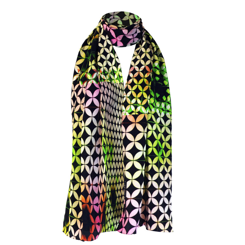 Tiffany Treloar Long Print Silk Scarf Buzz
