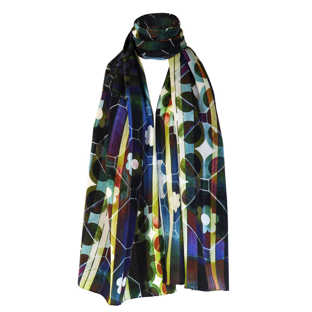 Tiffany Treloar Long Print Silk Scarf Rocco