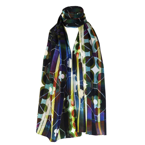 Long Print Silk Scarf Rocco
