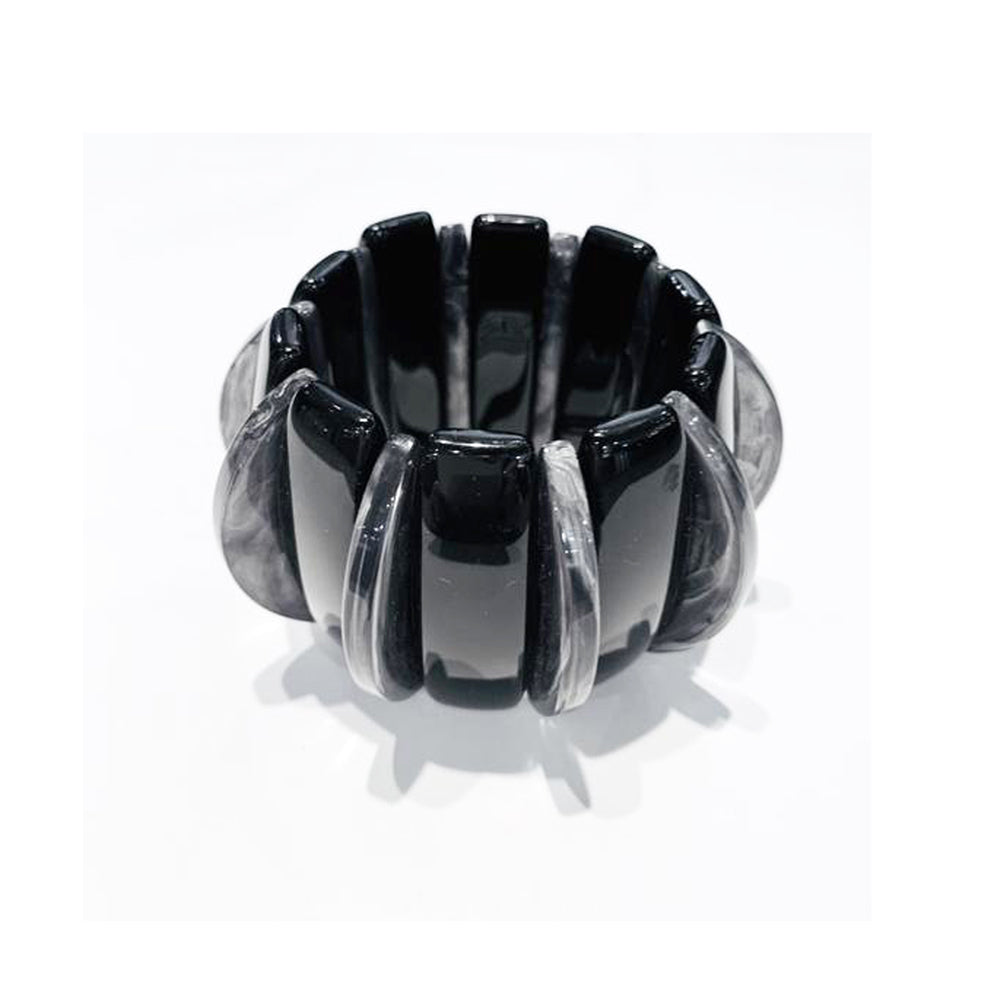 angela caputi Black Charcoal Barrel Bracelet AC-7126