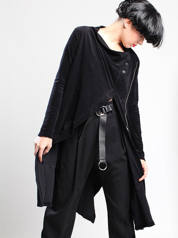 Black Cotton Overcoat LB M19-122
