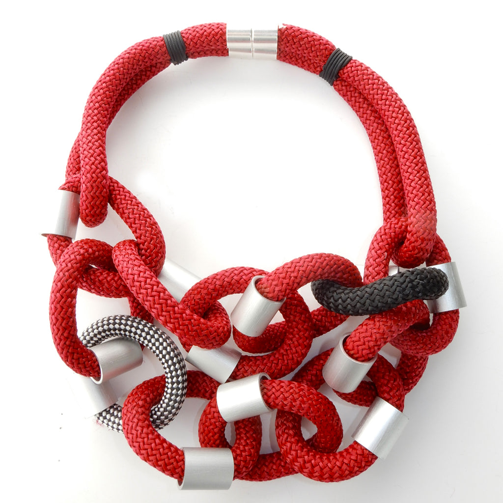Christina Brampti CB180 Neckpiece Stripe/Red/Black