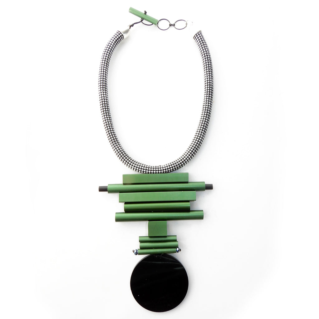 Christina Brampti CB87 Neckpiece Green/Black Disc