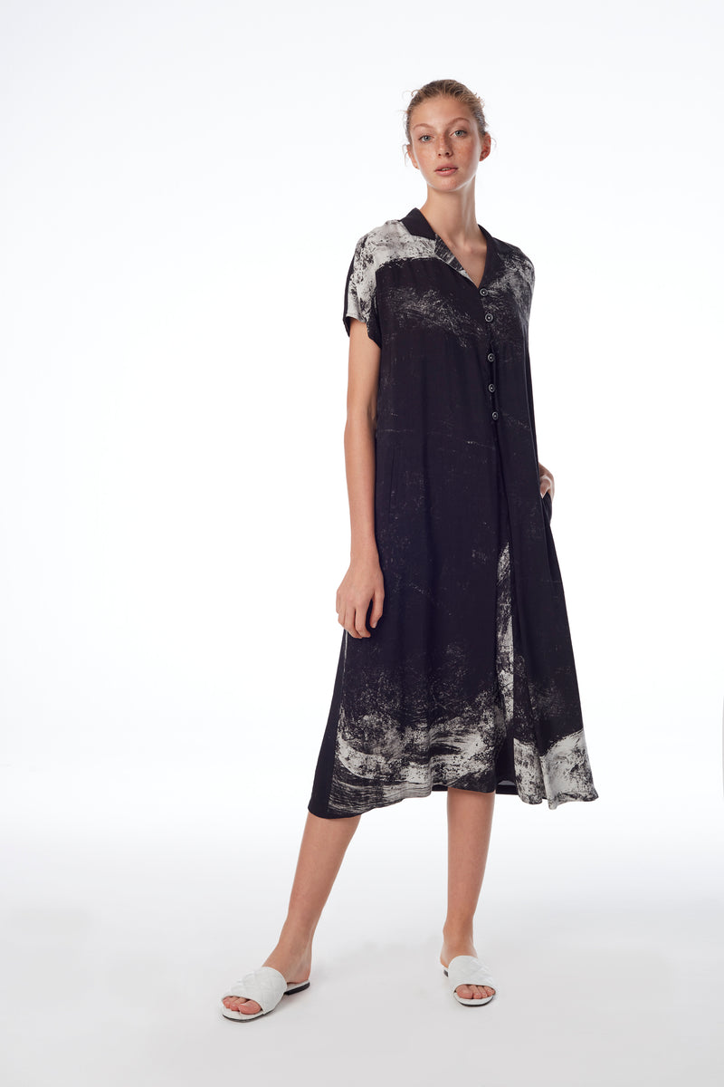 Linen Blend Shirt Dress 31084 col 910