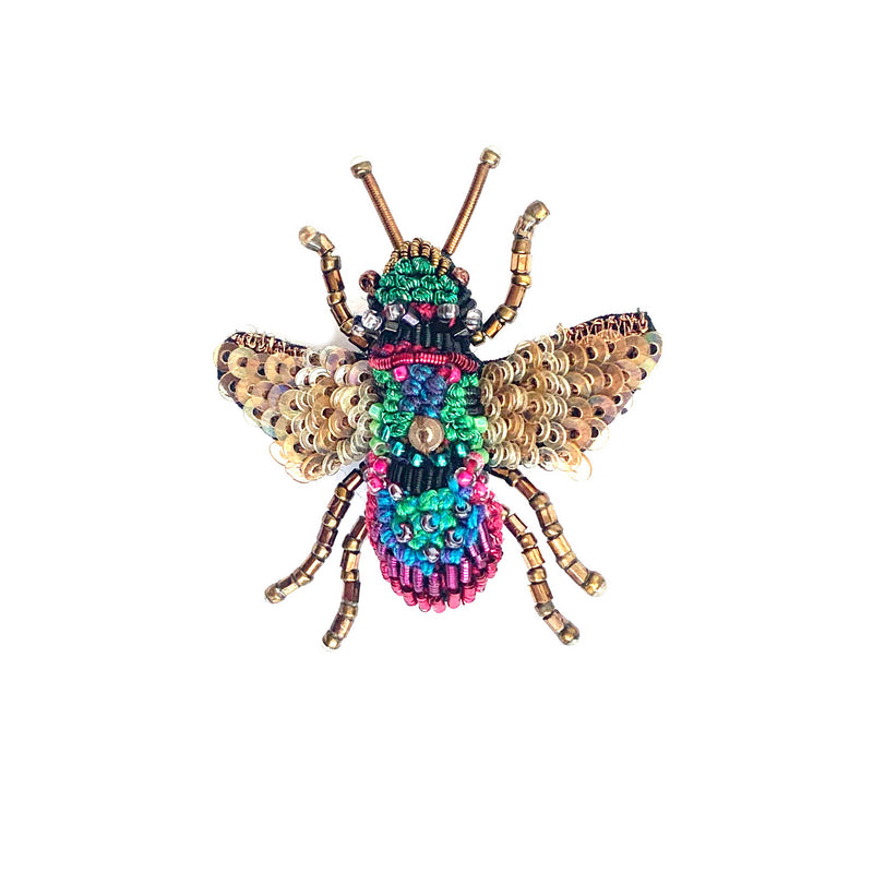 Rainbow Bee Brooch