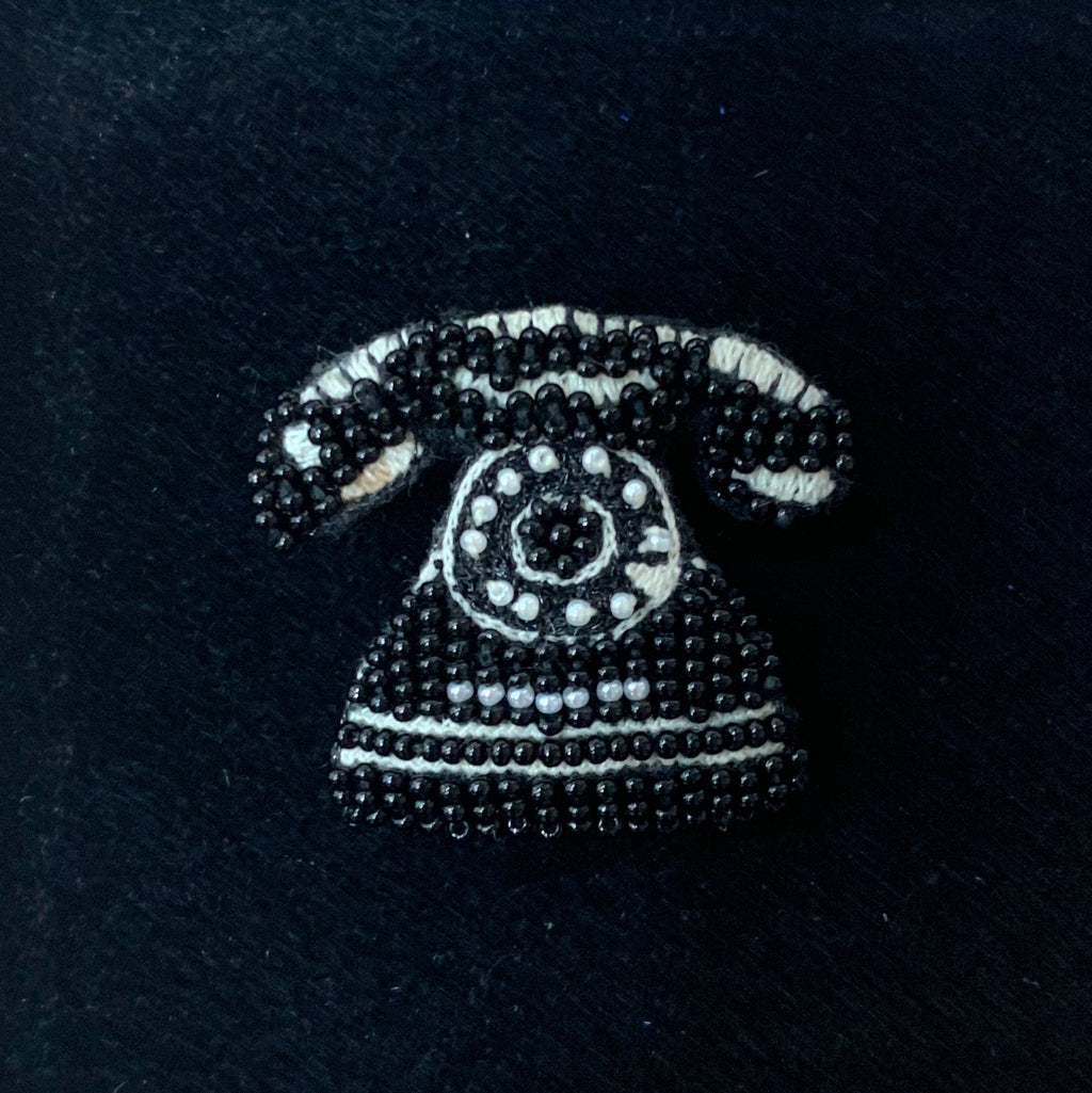Rotary Telephone Brooch