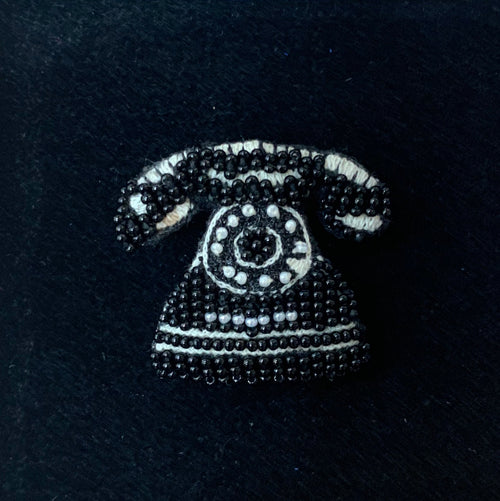 Trovelore, Rotary Telephone Brooch - Tiffany Treloar