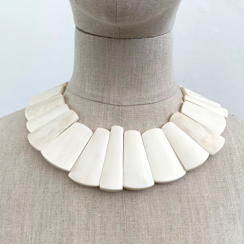 Monies, Brigitta Necklace White - Tiffany Treloar