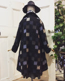 Italian Wool Lined Coat Wool Check