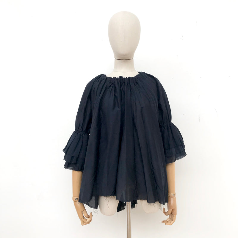 Amano Silk Cotton Blouson in Navy