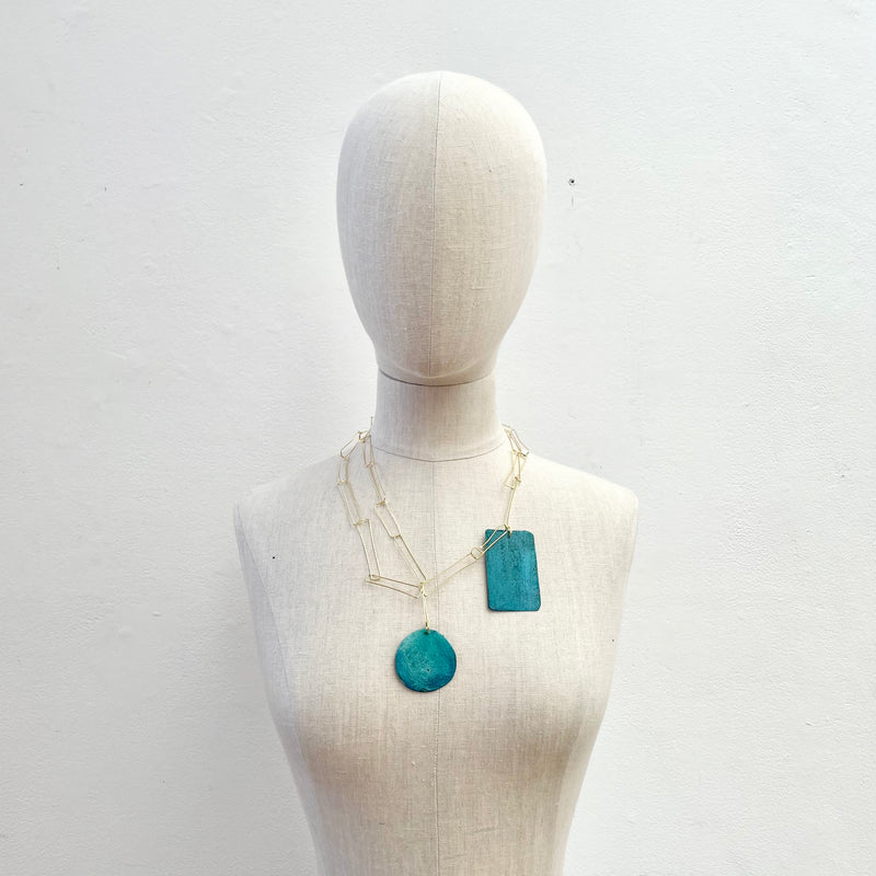 Dora Haralambaki, HD3-Bronze-Bluegreen Necklace - Tiffany Treloar