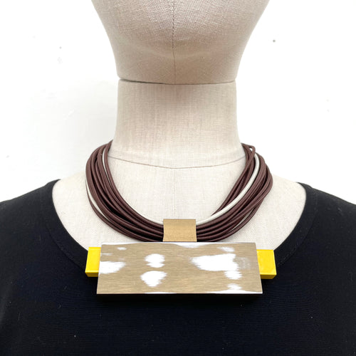 Christina Brampti, CB274 Gold Yellow Exposed Rectangle Necklace - Tiffany Treloar