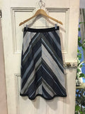 Chevron Skirt Navy/Khaki