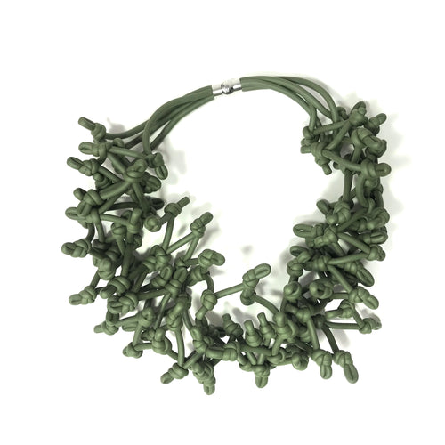 NEO, NEO 462 Khaki Multi-knot Necklace - Tiffany Treloar