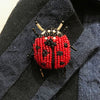 Trovelore, Red Lady Bug Brooch - Tiffany Treloar