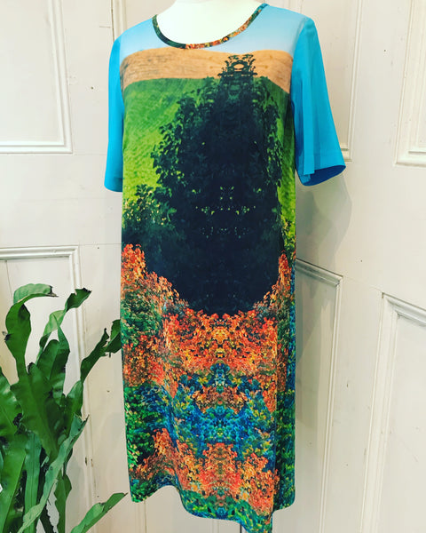 Print Silk Shift Dress Mrs Gooch tiffany treloar