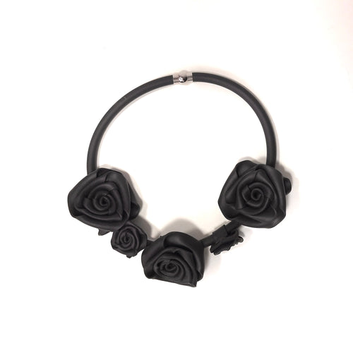 NEO, Neo 456 Black Rose Necklace - Tiffany Treloar