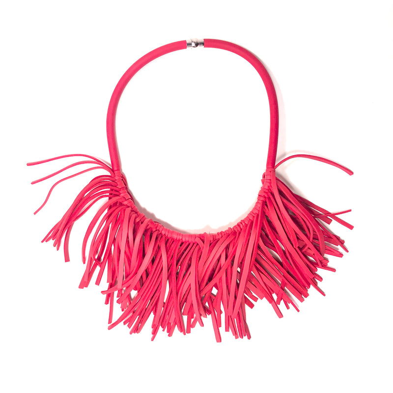 NEO, Neo 463 Red Seaweed Necklace - Tiffany Treloar