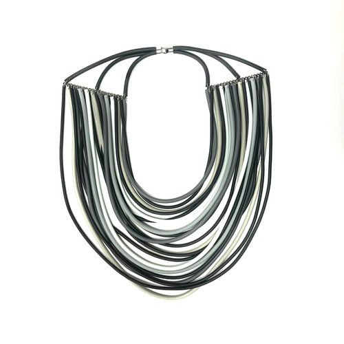 NEO, NEO 470 Mix Grey Layered Statement Necklace - Tiffany Treloar