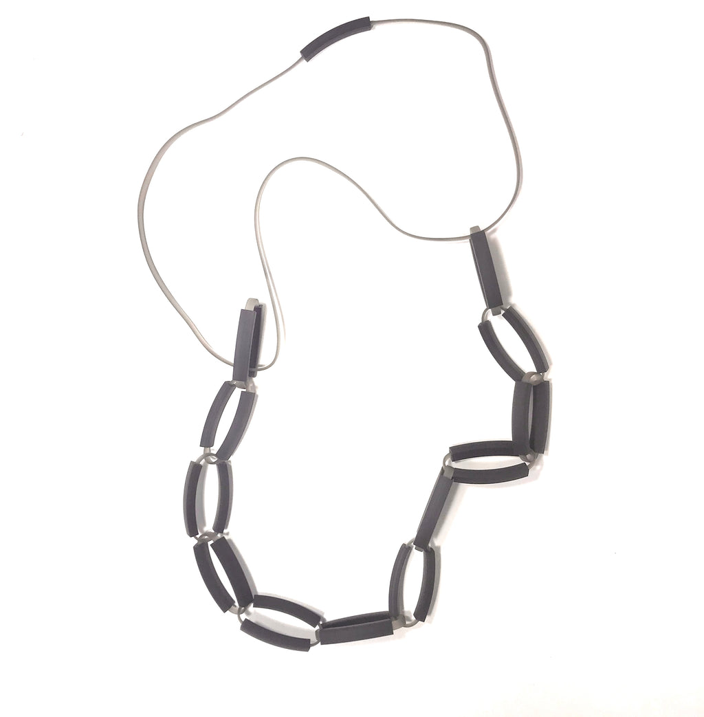 Materia Design, MD-311 Cate black grey necklace - Tiffany Treloar