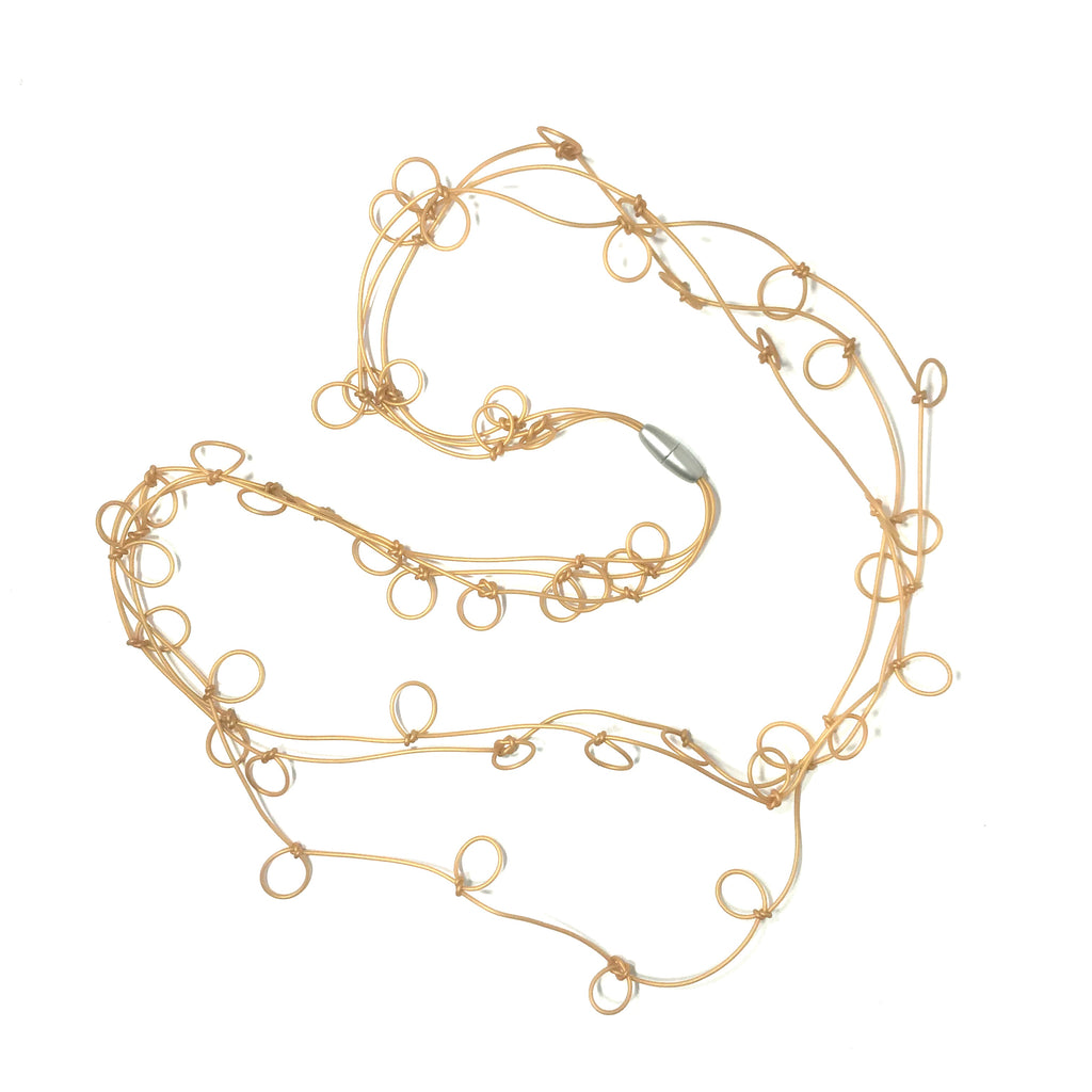 Materia Design, MD-463 Bubbles Gold Necklace - Tiffany Treloar