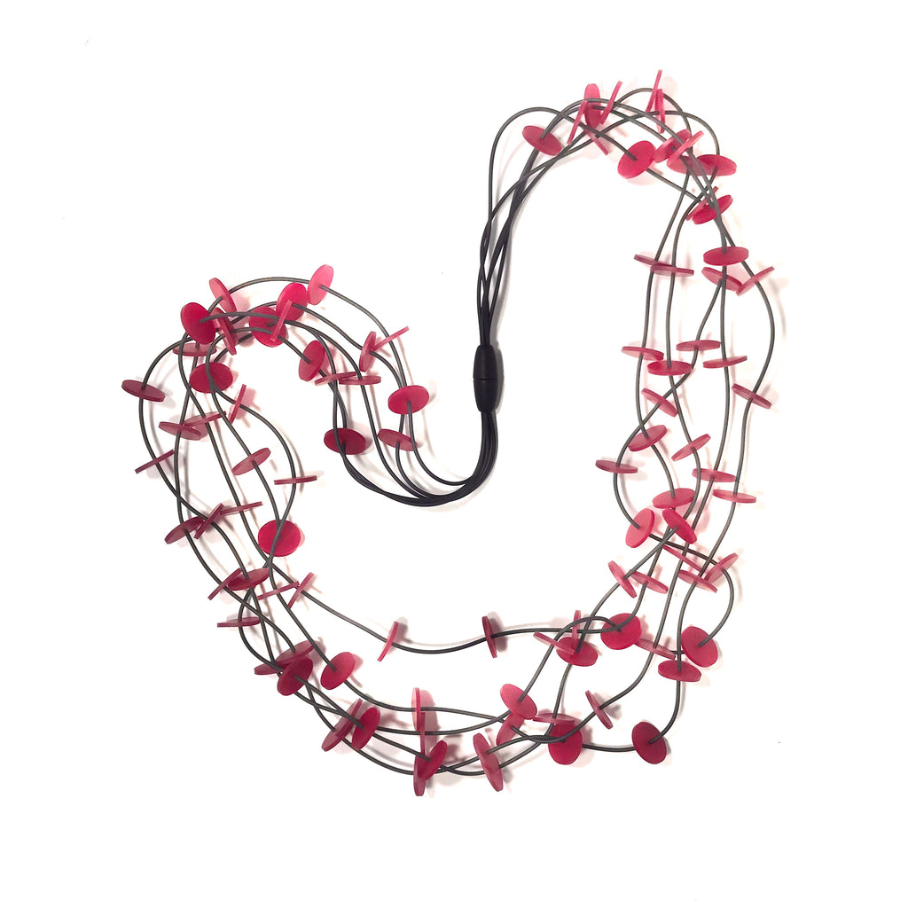 Materia Design, MD-454 Confetti Black Red Necklace - Tiffany Treloar