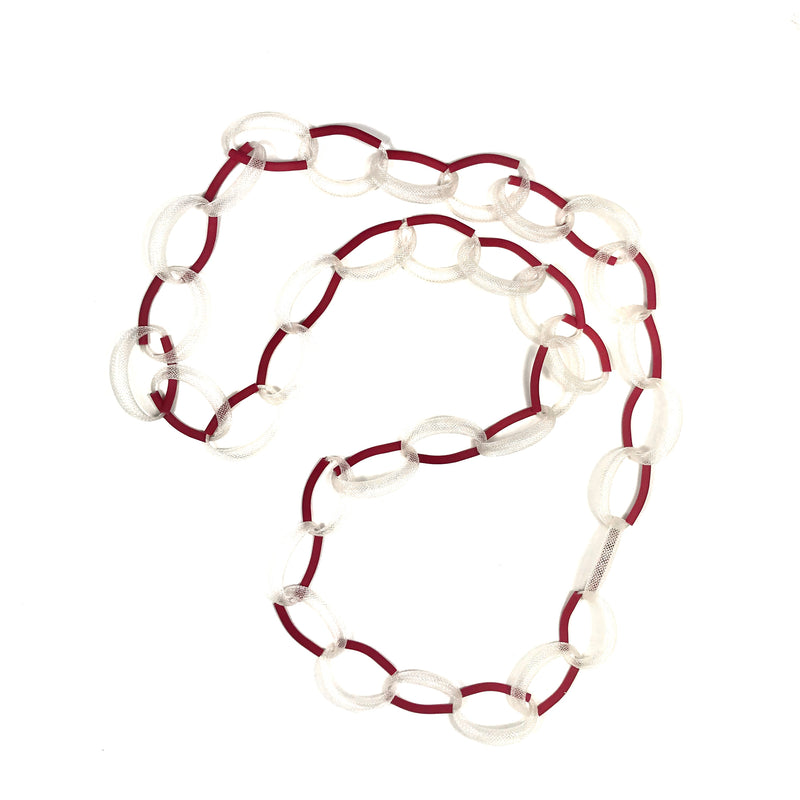 Materia Design, MD-371 Bollicina necklace white/red - Tiffany Treloar