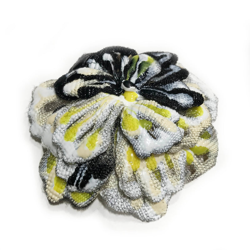 Infra Flower magnetic brooch Yellow