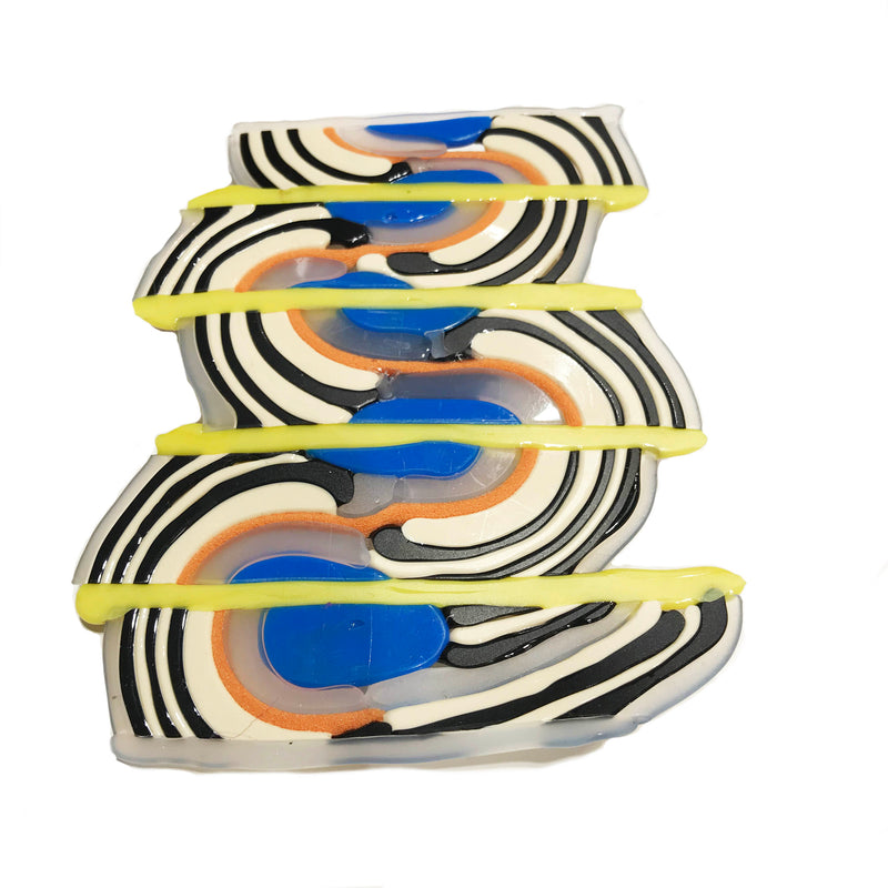 Infra Caleido ZIG ZAG magnetic brooch Yellow Mix