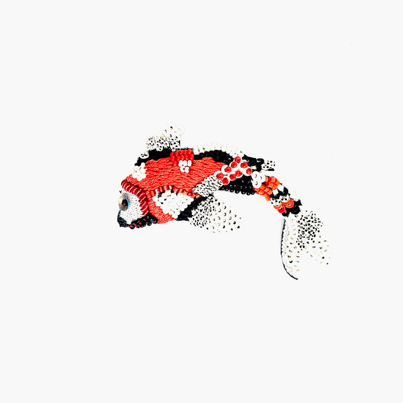Red Koi Fish Brooch