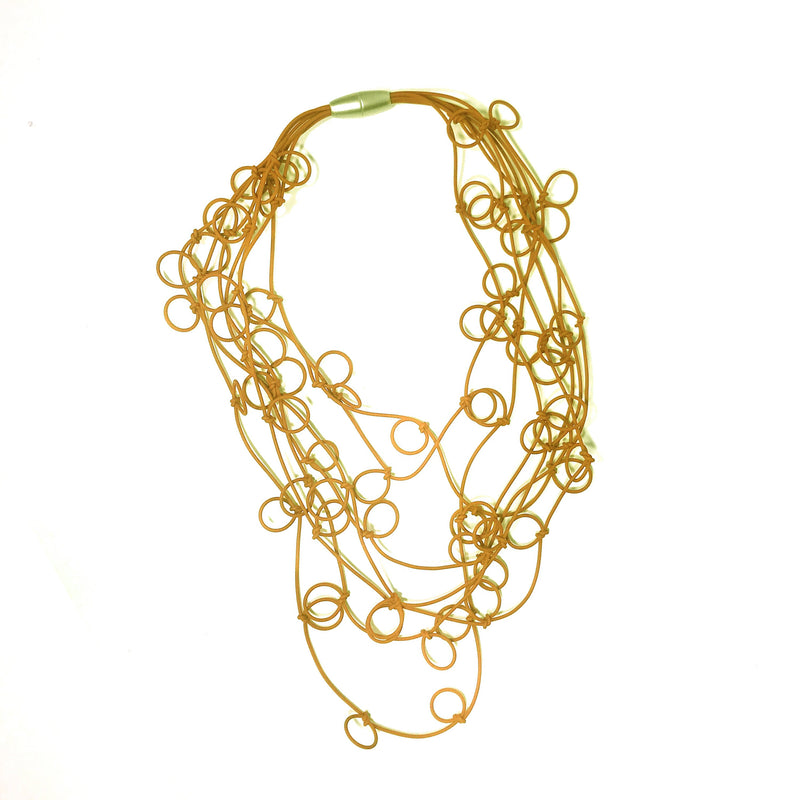 MD-363 Bubbles Gold Necklace