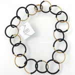Materia Design, MD-464 Eclissi brass & black necklace - Tiffany Treloar