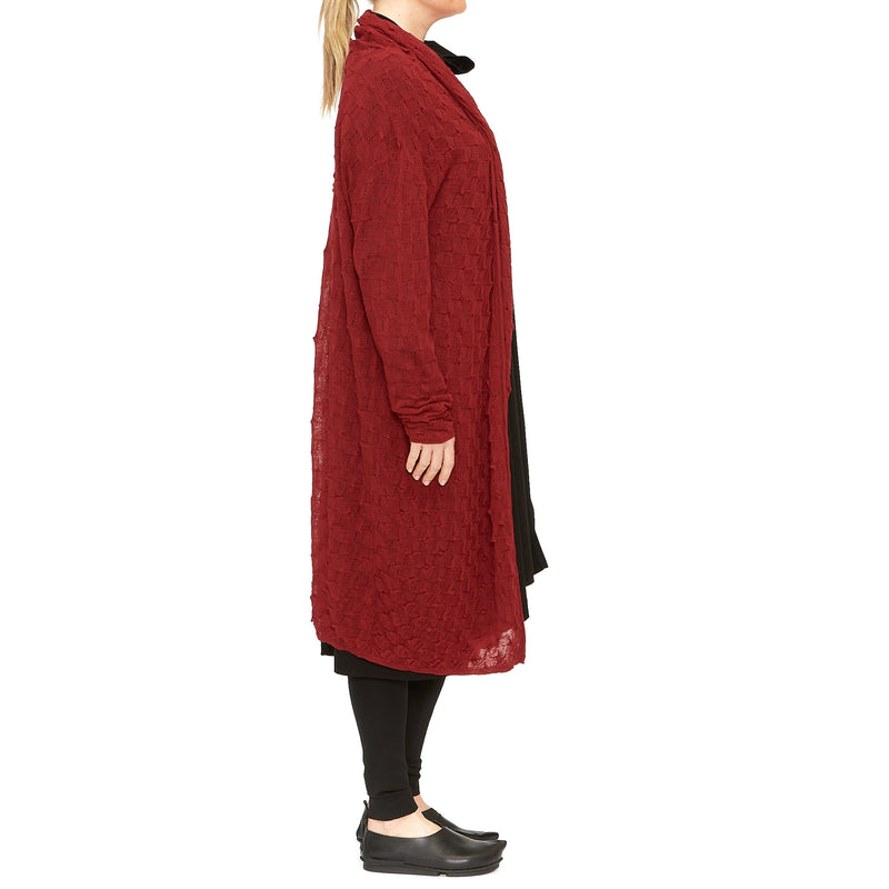 Moyuru, Red with Red Cardigan 203300-50 - Tiffany Treloar