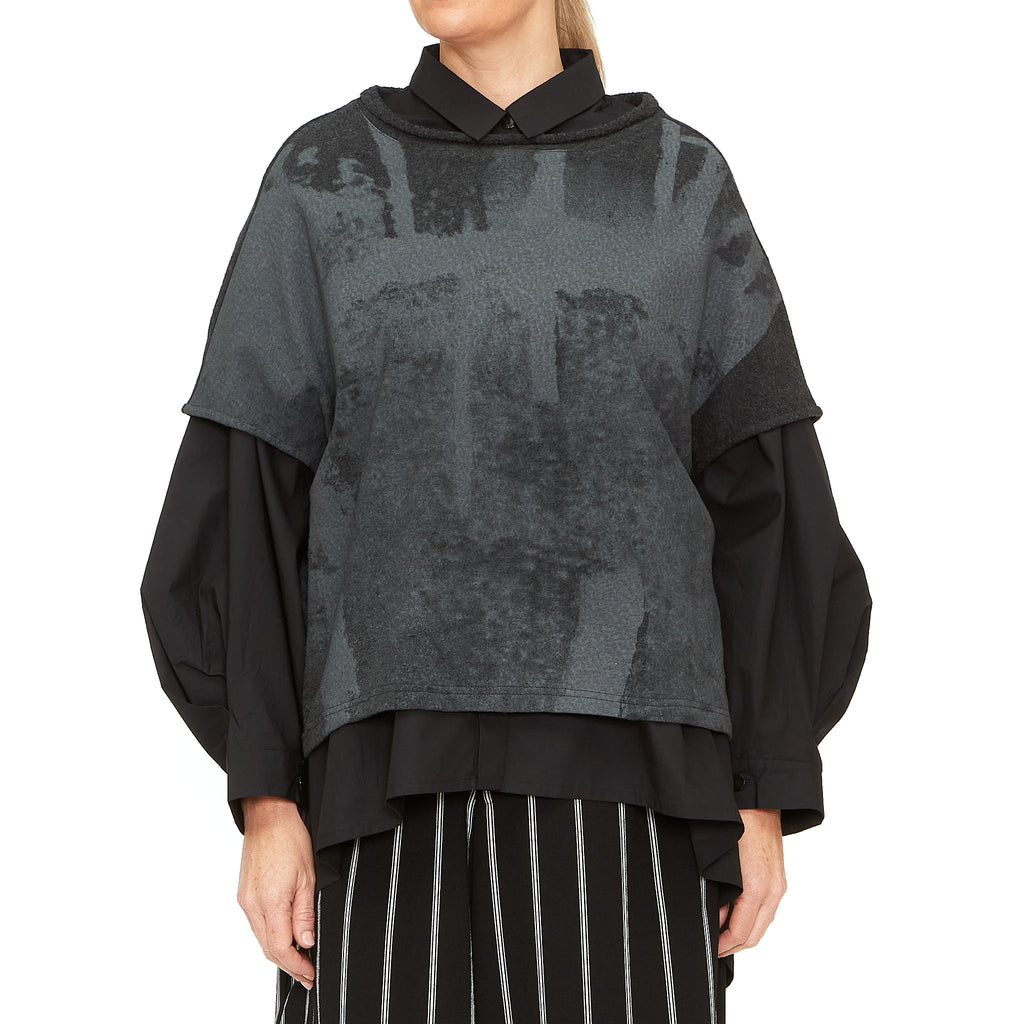 Moyuru, Charcoal Print Top 203022-19 - Tiffany Treloar