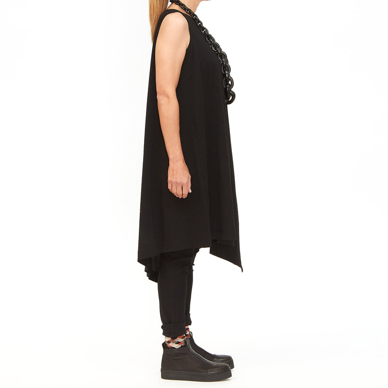 Moyuru, Black Asymmetrical Tunic 201019-02 - Tiffany Treloar