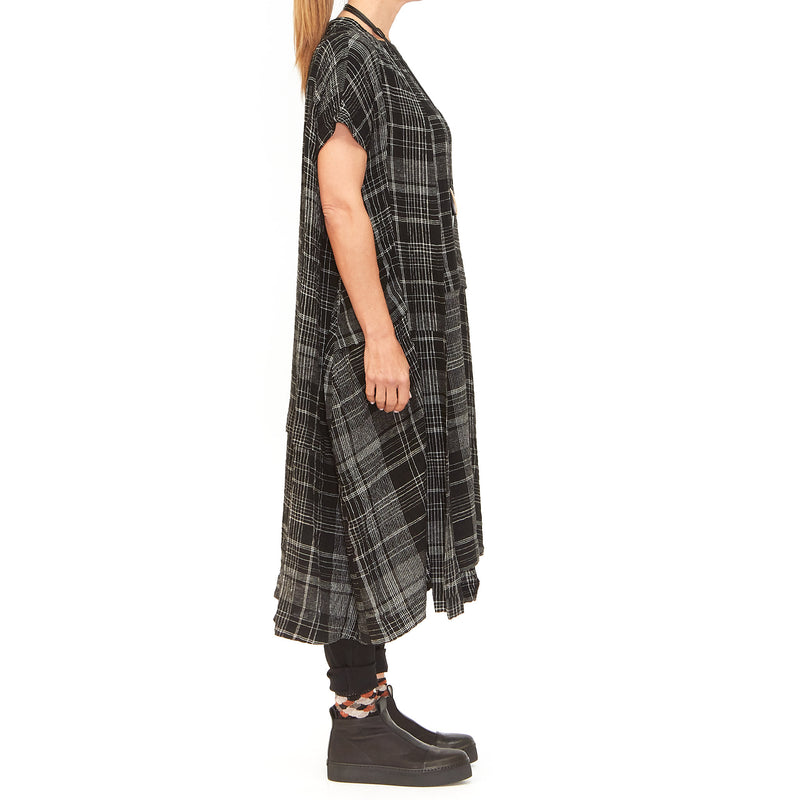 Moyuru, Black Check Dress 201661-02 - Tiffany Treloar