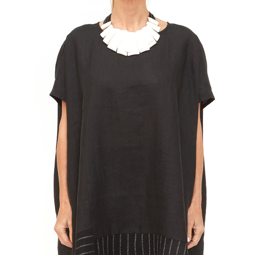 Moyuru, Black Panel Tunic 201638-02 - Tiffany Treloar