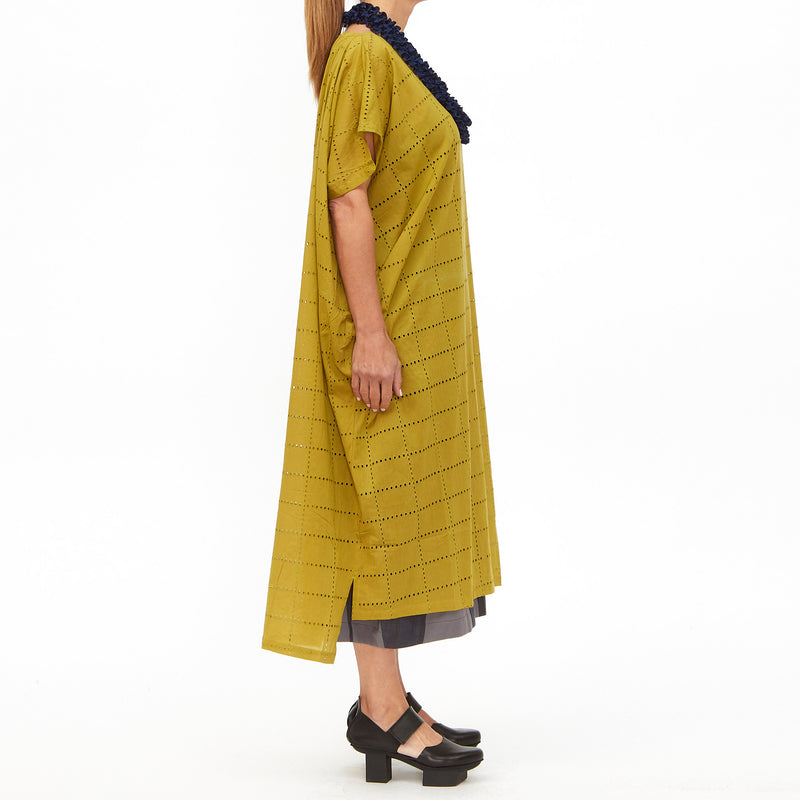 Moyuru, Yellow Broderie Anglaise Dress 201714-40 - Tiffany Treloar