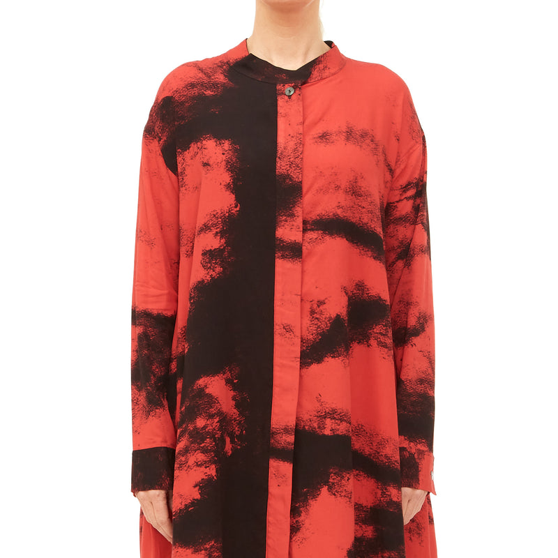 Moyuru, Red Printed Shirt 201443-50 - Tiffany Treloar