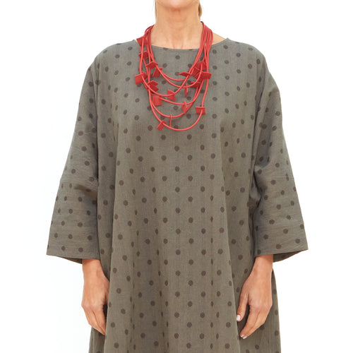 Moyuru, Slate Dress with Charcoal Spots 201507-39 - Tiffany Treloar