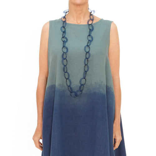 Moyuru, Green Tunic with Blue Print  201417-99 - Tiffany Treloar
